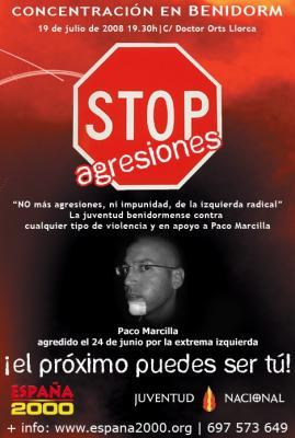 CONTRA LA VIOLENCIA ULTRAIZQUIERDISTA CONCENTRACION BENIDORM 19/07