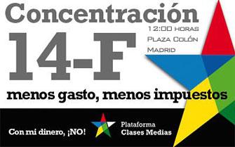 MANIFESTACION EN DEFENSA DE LAS CLASES MEDIAS 14-02-2009
