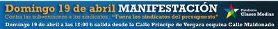 """MANIFESTACION """"FUERA LOS SINDICATOS DEL PRESUPUESTO"""""""