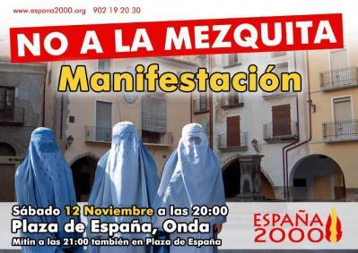 12-N Gran manifestación anti-Islam en Onda. Acto central de campaña de España 2000